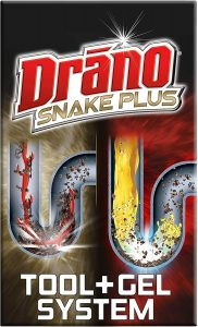 Drano Gel Drain Clog Remover + Snake Tool
