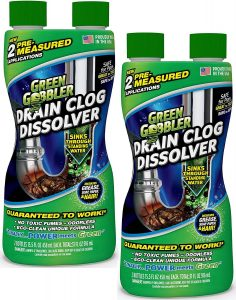Green Gobbler Liquid Hair & Grease Clog Remover – Overall Best Drain Cleaner for Toilets